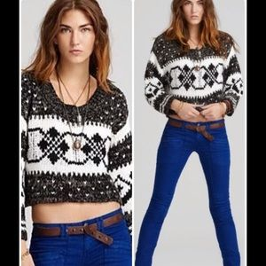 FREE PEOPLE cropped sweater- size Small